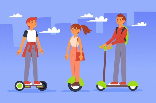 Люди за рулем электрического транспорта