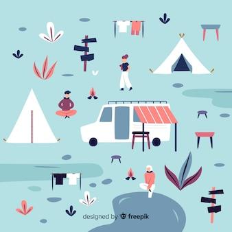 People enjoying in a camping