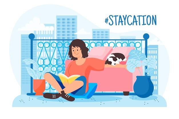 People enjoying staycation