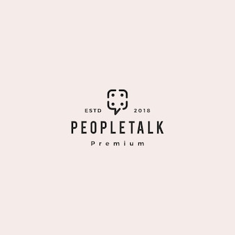 People family group community chat talk bubble logo icon