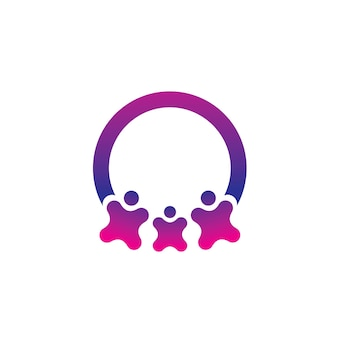 People family and team logo template