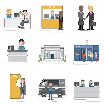 People in finance vector