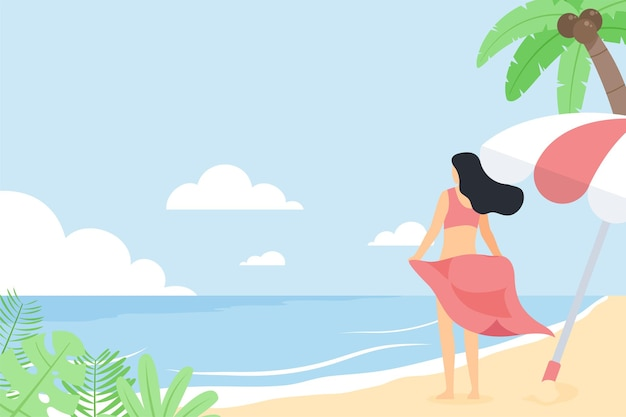 People flat vector concept illustration.