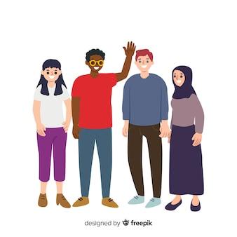 다른 인종과 문화의 사람들