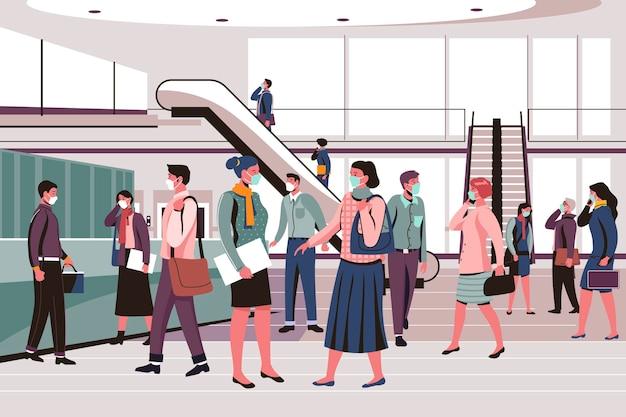 Люди возвращаются к работе