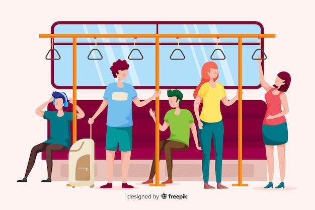지하철을 타는 사람들