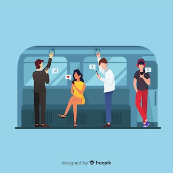 People going on the subway