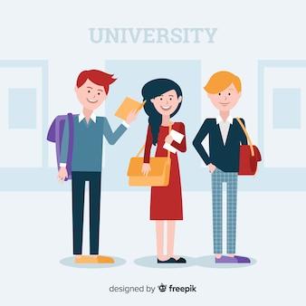 Люди идут в университет