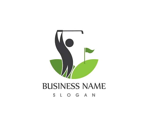 人々のゴルフのアイコンのロゴ