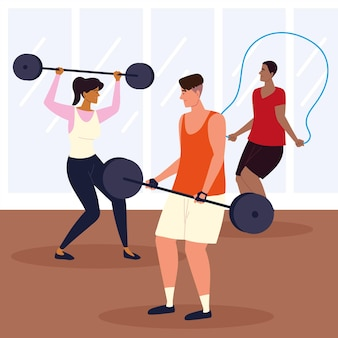 People gym exercise