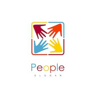 Люди руки благотворительный логотип