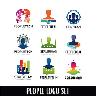 People Head Logo Designs Template Set