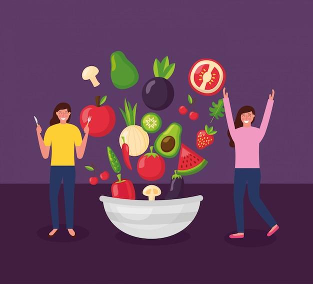 Люди здоровой пищи