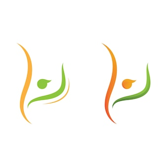 People healthy life logo template vector icon