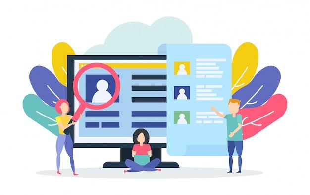 People hiring concept. open vacancy.