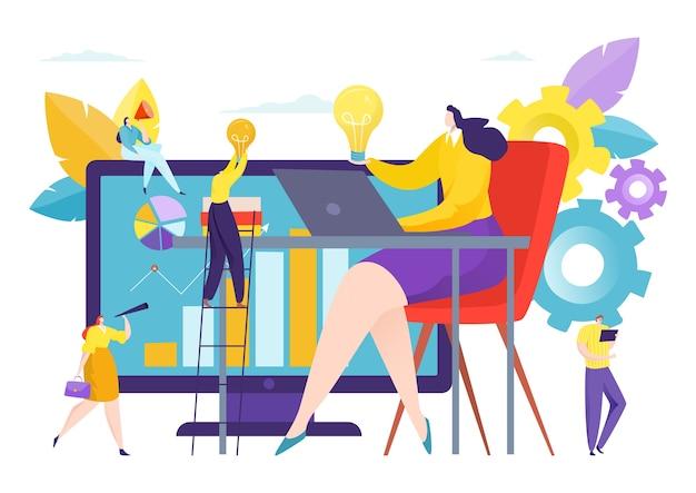Люди держат идею лидера бизнес-команды