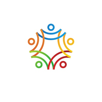 People human together family logo  icon illustration