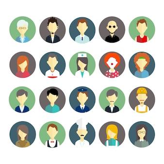 Коллекция значков людей