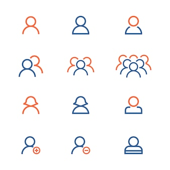 People icon collection Free Vector
