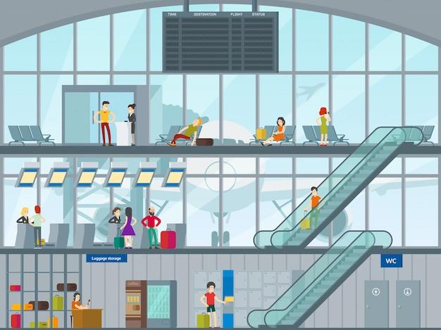 空港のコンセプトの人々
