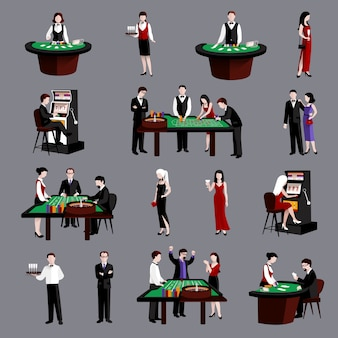 Люди в казино Бесплатные векторы