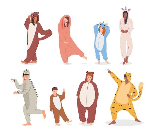 Люди в пижаме иллюстрации