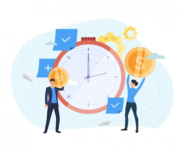 People investing money in watch landing page