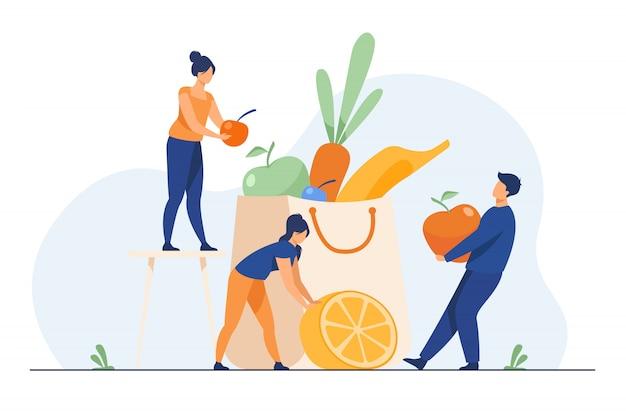 健康的な食事を維持する人々