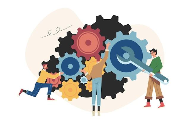 ビジネス戦略分析メカニズムの人々のリンク