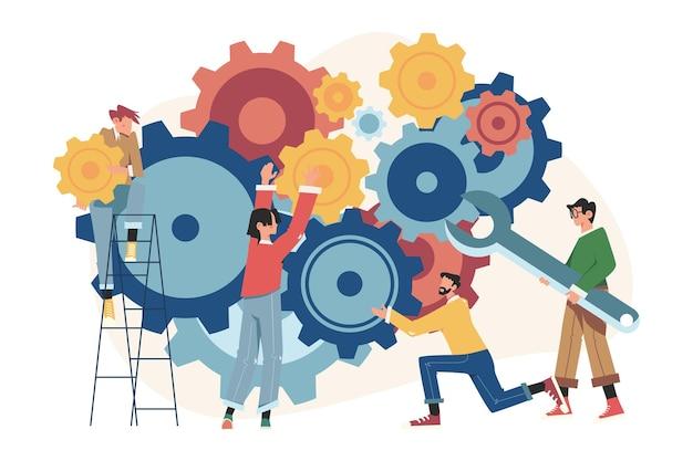メカニズム、ビジネスメカニズム、ビジネスプロモーション、戦略分析に従事する人々のリンク