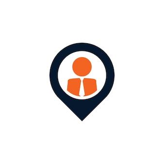 People location logo design template