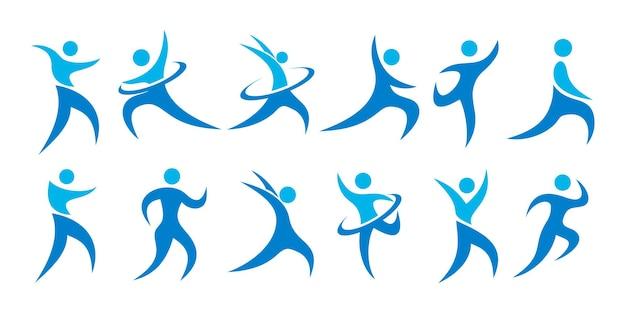 Люди логотип дизайн иллюстрации значок гармонии
