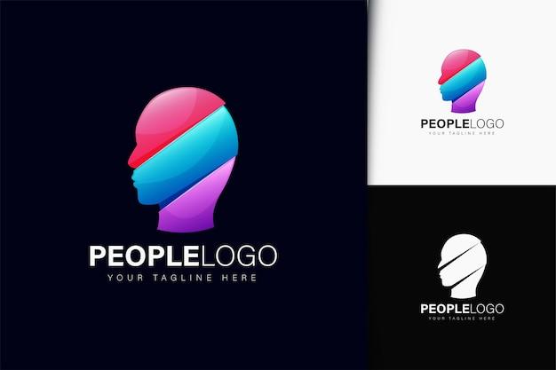 그라데이션이 있는 사람들 로고 디자인