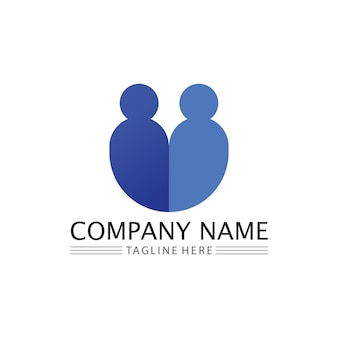 People logo, team, succes people work, group and community, group company and business logo vector and design care, family icon succes logo