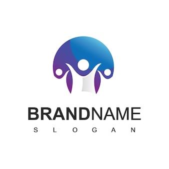 Люди логотип, коллективная работа и символ общества