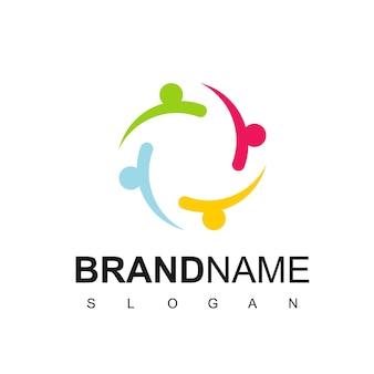 People logo, teamwork, charity, comunity symbol