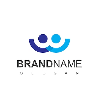 Люди логотип вектор в изолированном белом фоне