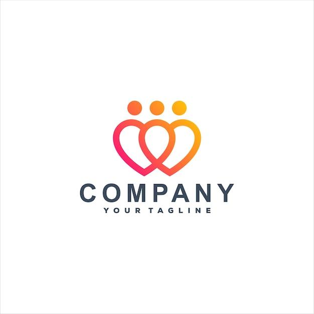 People love gradient logo template