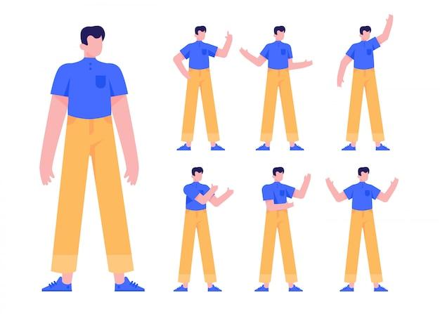 People male female character flat design illustration