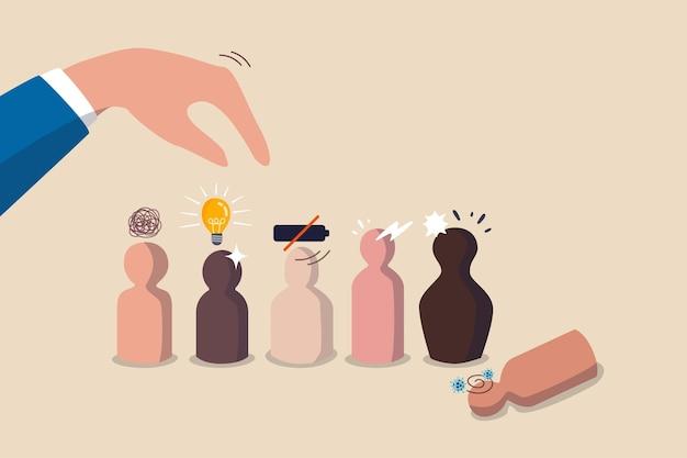 People management, human resources concept