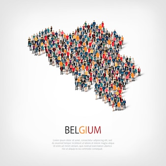 People map country belgium