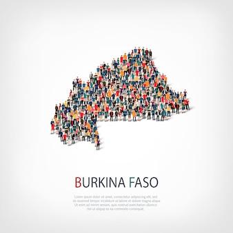 人々は国ブルキナファソをマップします