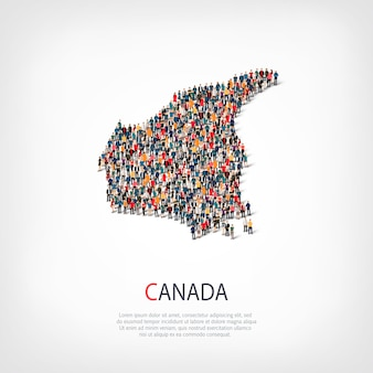人々は国カナダをマップします