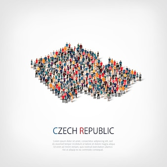 People map country czech republic