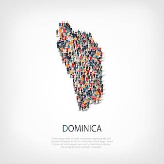 人々は国ドミニカをマップします