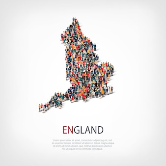 Люди карта страны англия