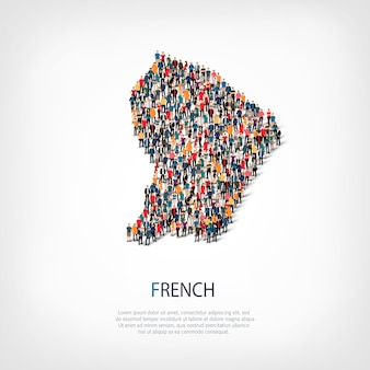 人々はフランスの国をマップします