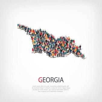 人々は国ジョージアをマップします