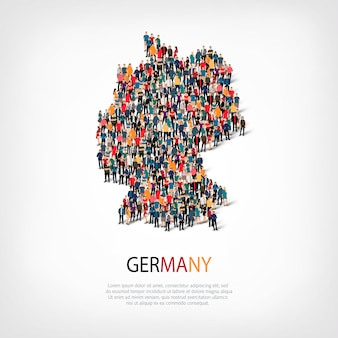 People map country germany