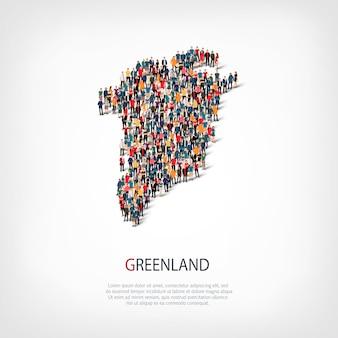 사람들지도 국가 그린란드